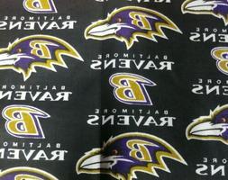 Baltimore Ravens, 1/2 yard,  NFL Football Cotton Fabric New