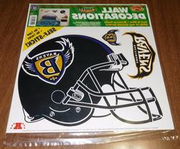 1996 Color Clings Wall Decorations Decals - Baltimore Ravens