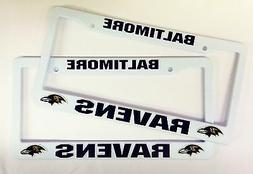 2 RAVENS License Plate Frame NEW Auto Truck FREE SHIPPING Ba