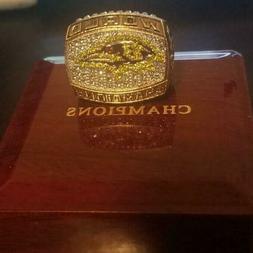 2000 Baltimore Ravens Super Bowl Championship Ring 18k GP RA