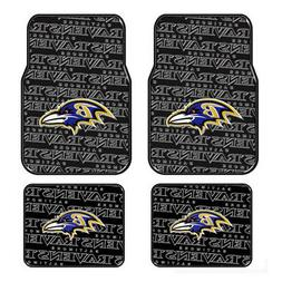 4pc Set NFL Baltimore Ravens Front Back Car Truck Rubber Vin
