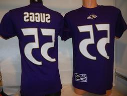 "9808 Mens Baltimore Ravens TERRELL SUGGS ""Name Number"" Footb"