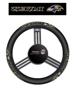 NFL Baltimore Ravens Massage Steering Wheel Cover By Fremont