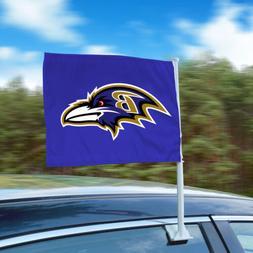 "Baltimore Ravens 11""x14"" 2-Sided Window Mounted Car Flag"