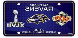 baltimore ravens 2x super bowl champions aluminum