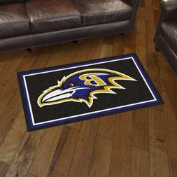 Baltimore Ravens 3' X 5' Decorative Ultra Plush Carpet Area