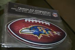 "4 Baltimore Ravens 3D Football Magnet 6""x3.5"" NFL"