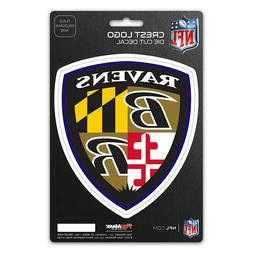 "Baltimore Ravens 5"" x 7.5"" Crest Logo Decal Flat Die Cut Shi"