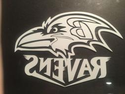 Baltimore Ravens 5 x 7 White Car Decal Sticker