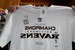 BALTIMORE RAVENS AFC 2012 XLVII SUPER BOWL WHITE T SHIRT NIK