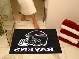 baltimore ravens bath mat shower bathroom all