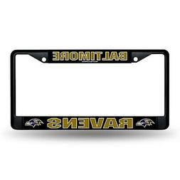 Baltimore Ravens Black Metal License Plate Frame
