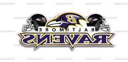 Baltimore Ravens Bumper Window Vinyl Decal 7x3