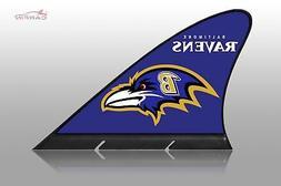 Baltimore Ravens Car Flag, CARFIN  Magnetic Car Flag.