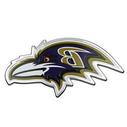 BALTIMORE RAVENS CAR TRUCK 3D COLOR METAL EMBLEM DECAL FREE