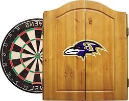 Baltimore Ravens NFL Dart Board w/Cabinet