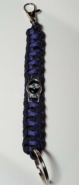 Baltimore Ravens Deluxe Key Chain with lobster clasp & key r