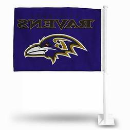 """Baltimore Ravens Flag Car Auto Window 15"""" x 11"""""""