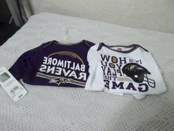 Baltimore Ravens Football NFL Team Apparel Size 3-6 Months S