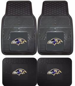 Baltimore Ravens Heavy Duty NFL Floor Mats 2 & 4 pc Sets for