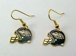 Baltimore Ravens Helmet Charm Dangle Earrings - NFL Licensed