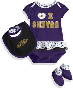 NFL Team Apparel Baltimore Ravens I Love Ravens bodysuit Bib