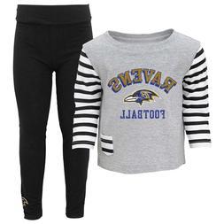 @ Baltimore Ravens Infant Baby Little Big Girl Shirt and Pan
