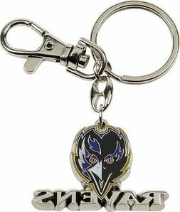 Baltimore Ravens Keychain Metal Heavyweight Key Ring NFL Ami