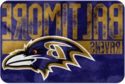 NFL Baltimore Ravens Mat Carpet Lug Football Sports Team Gif