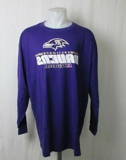 Baltimore Ravens Men's Big & Tall Purple Long Sleeve Shirt 2