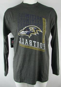 Baltimore Ravens Men's Charcoal Gray Team Apparel Long Sleev