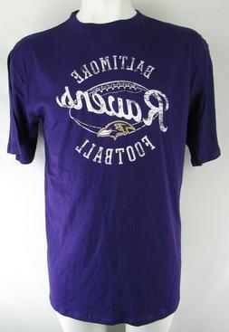 Baltimore Ravens Men's Purple Team Apparel Distress Print T-