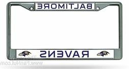 Baltimore Ravens New Design Chrome Metal License Plate Tag F