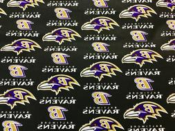 "BALTIMORE RAVENS NFL 60"" Cotton Fabric 1/2 Yard Fabric Tradi"