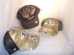BALTIMORE RAVENS NFL CAMO BLACK MESH BACK SMALL MEDIUM TWINS