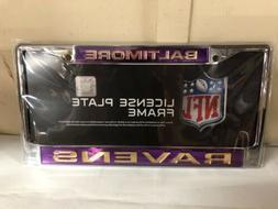BALTIMORE RAVENS NFL CHROME Bright Purple CAR TRUCK LICENSE