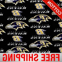 "Baltimore Ravens NFL Cotton Fabric - 60"" Wide - Style# 6041"