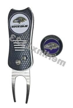 Baltimore Ravens NFL Golf Ball Marker w/ Switchfix Switchbla