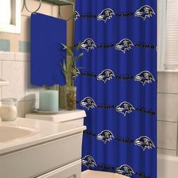 Baltimore Ravens NFL LOGO Fabric Shower Curtain  FREE US SHI