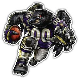 Baltimore Ravens NFL Mascot Car Bumper Sticker Decal - 3'' o