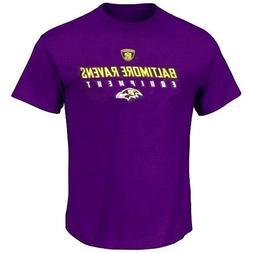 Baltimore Ravens NFL Reebok Equipment Logo Purple T-Shirt Me