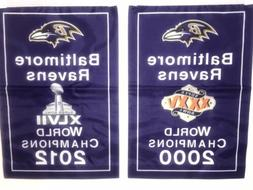 Baltimore Ravens NFL Super Bowl Champions 2 Banners/Flags 18