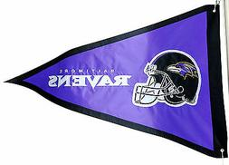 Baltimore Ravens PENNANT 3x5 Flag Applique Embroidered Outdo