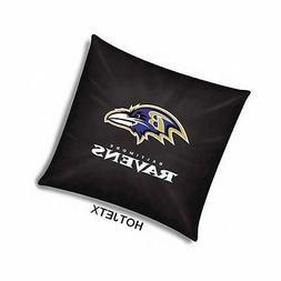 BALTIMORE RAVENS PILLOW OFFICIAL TOSS NFL FOOTBALL HOME BED