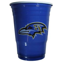 BALTIMORE RAVENS PLASTIC GAMEDAY CUPS 18OZ 18CT SOLO TAILGAT