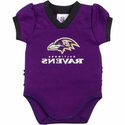 Baltimore Ravens NFL Purple Kids Girls Bodysuit Jersey/Shirt