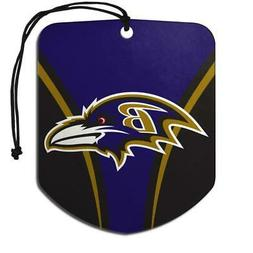Baltimore Ravens Shield Design Air Freshener 2 Pack  NFL Fre