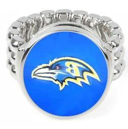 Baltimore Ravens Silver Men's Women's Ring Fits All Sizes w