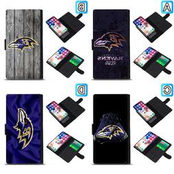 Baltimore Ravens Sliding Flip Case For Samsung Galaxy S7 S8