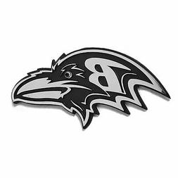 Baltimore Ravens Premium Solid Metal Chrome Plated Car Auto